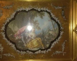 Victorian  Gold Guild Mirror Picture