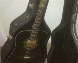 Black Abilene  Acoustic Guitar with Case