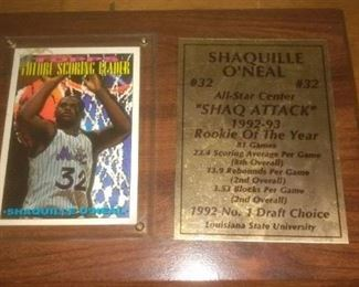 Shaq Attack Plaque and Card