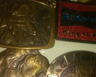 Vintage Brass and Bronze Belt Buckles