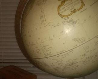 Vintage Breakstones Wood Bank And Globe