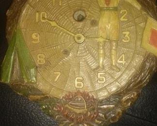 Mini Vintage Boy Scout Clock