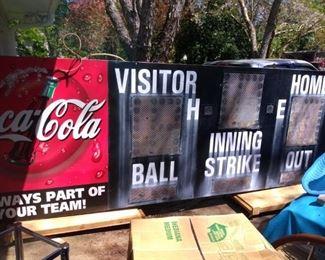 Vintage Coca Cola Baseball Scoreboard