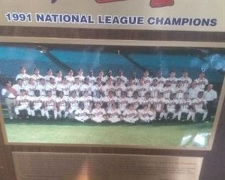 1991 Atlanta Braves National League Champions Plaque