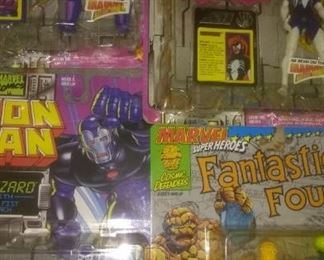 Iron Man Figurines and Fantastic Four (Thing)