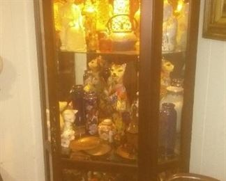 Vintage 7 foot Glass Curio Display  Cabinet