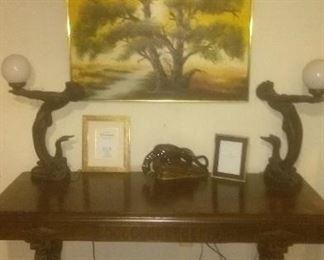 Antique Mahogany Communion Table