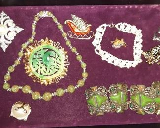 Vintage Asian and Art Deco Jewelry