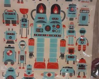 Vintage Robots Poster