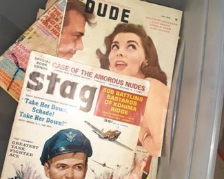 Vintage Adult Magazine's The Dude, Stag, Playboy, Penthouse, And More...