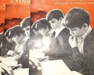 Vintage 1970 The Atlanta Boy Choir At Symphony Hall Poster