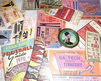 Vintage Baseball Ticket Stubs and Ephemera