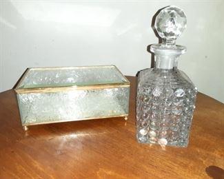 Glass Box and Mini Decanter