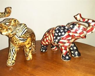 Ceramic Elephants American and Safari Themed