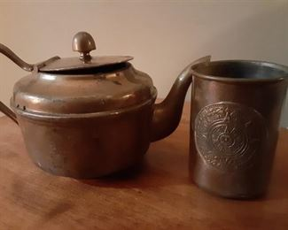 Copper Teapot and Cup