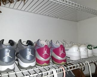 Womes Jordan's and Adidas Tennis Shoes