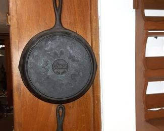Lots of Lodge Cast Iron Skillets many different sizes