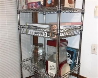 Metal Storage Rack, Stainless Steel Microwave, Kitchen Household New and Vintage