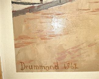 Oil Painting By Drummond 1962