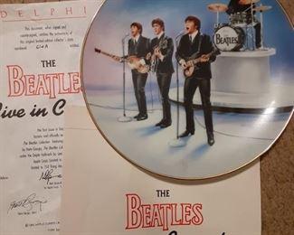 The Beatles Live in Concert Delphi Collectors Plate