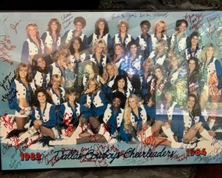1983-1984 Dallas Cowboy Cheerleaders - Signed