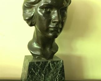 "Bronze ""Pioneer Woman"" by Nancy Coonsman  1888-1976"