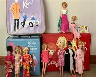 Vintage Barbies, Francie, and Ken - Lots of accessories,  Clothing, and more...