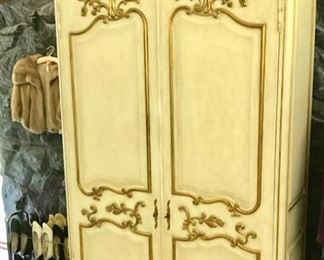 Italian Armoire, Dresser, and Headboard