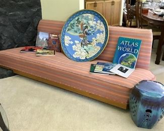 Mid Century Modern Couch, Large Charger, Colorful Garden Seat, and more....