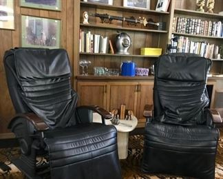 EMS .9 Plus Massage Chairs, Travertine Triangle Side Table, and more....