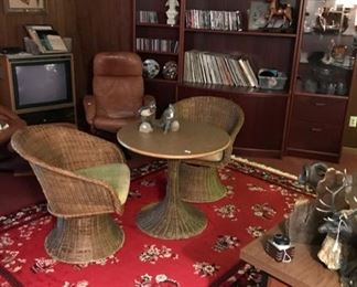 Oriental Wool Carpet, Wicker Table/Chairs, and more...