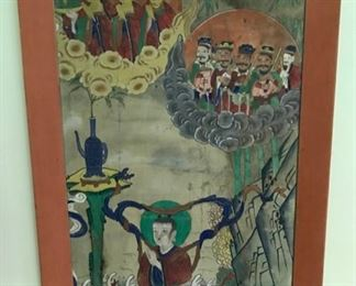19th Century Korean Immortal Painting on Silk