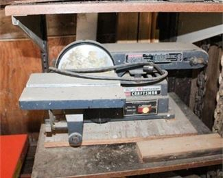 """Lot 020  Craftsman 4"""" Motorized Belt & 6"""" Disc Sander"""