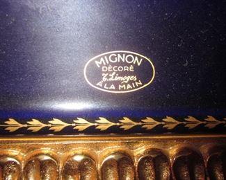 talian Limoges Mignon Decor Cobalt Blue
