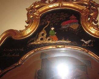 Asian Inspired Ornate Mirror