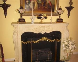 Stunning Marble Fireplace and So Much More