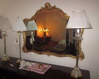 More Ornate Gold Gilt Mirrors