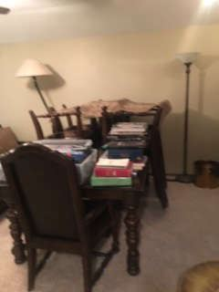 Bernhardt Table with 6 Chairs
