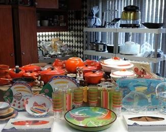 Rachel Ray cookware and bakeware,  Le Creuset cookware and bakeware.