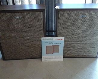 Sonics model AS-61 slim 2-way 5 - speaker system
