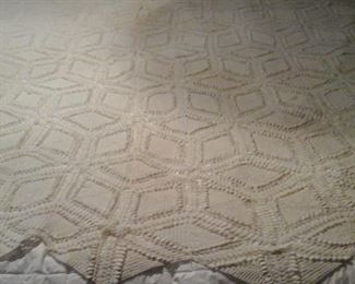 Hand crocheted tablecloth or coverlet