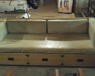 Vintage sofa with storage