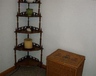 Walnut Corner Shelf