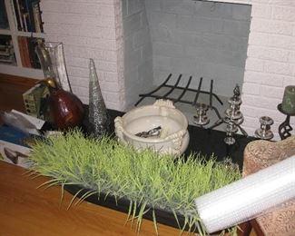 long narrow plant arrangement