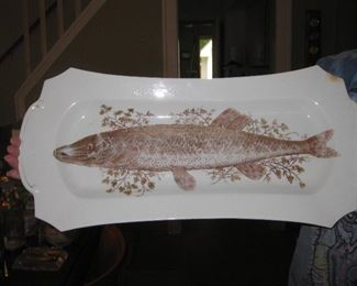 antique fish platter