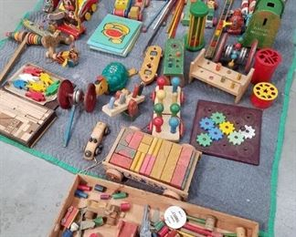 Collection of vintage toys Tootsie included