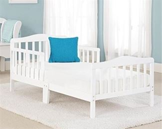 Contemporary Design Toddler Bed White
