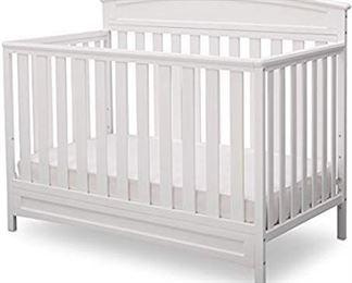 Delta Children Sutton 4-in-1 Convertible Baby Crib, White
