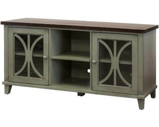 Martin Furniture fully assembled bailey console 60  weather green