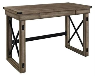 Altra Furniture Wildwood Rustic Desk with Metal Frame